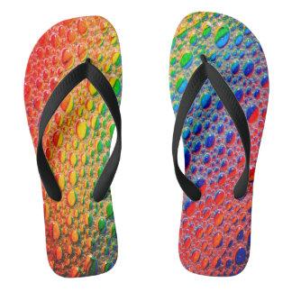 Chinelos Arco-íris brilhante colorido