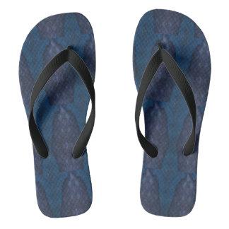 Chinelos Ardósia dos chinelos, azul, preto