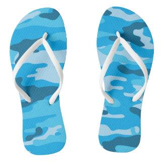 Chinelos azuis de Camo, calçados da camuflagem