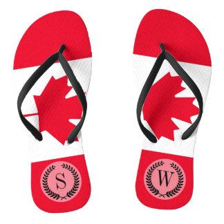 Chinelos Bandeira clássica de Canadá