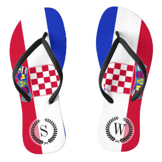 Chinelos Bandeira de Croatia