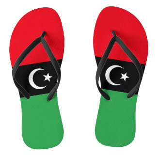 Chinelos Bandeira de Líbia