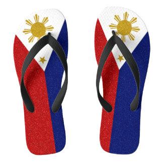 Chinelos Bandeira do brilho de Filipinas, correias largas