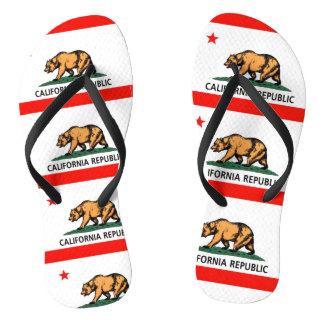 Chinelos Bandeira do urso de Califórnia