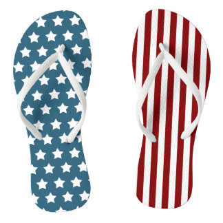 Chinelos Bandeira dos Estados Unidos patriótica