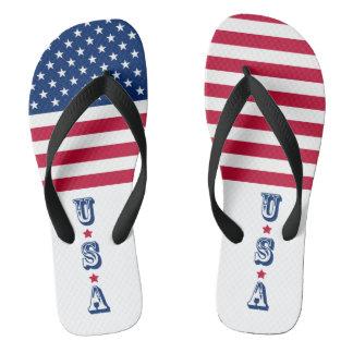 Chinelos Bandeira EUA americanos de América
