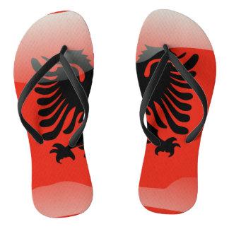 Chinelos Bandeira lustrosa albanesa