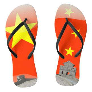Chinelos Bandeira lustrosa chinesa