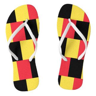 Chinelos Bandeira nacional de Bélgica