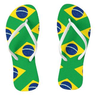 Chinelos Bandeira nacional de Brasil, cor exata da