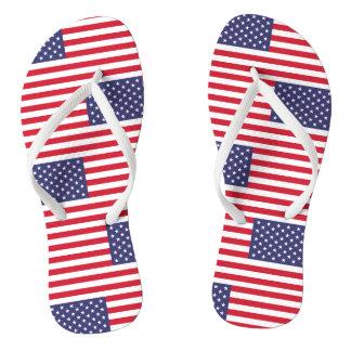 Chinelos Bandeira nacional dos Estados Unidos da América