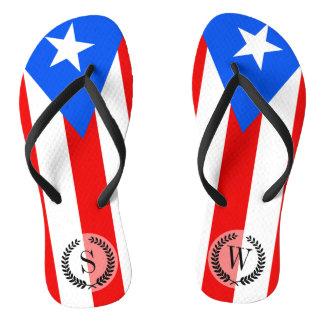 Chinelos Bandeira porto-riquenha clássica