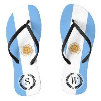 Chinelos Bandeira tradicional de Argentina