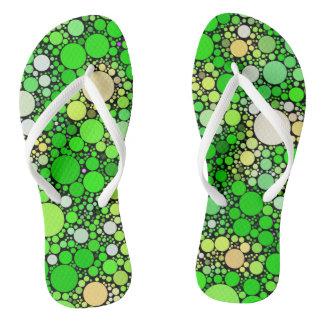 Chinelos Bolhas de Zazzy, verdes