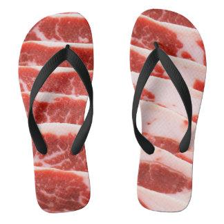 Chinelos calçados do bacon