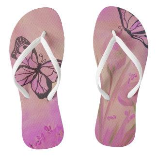 Chinelos Calçados do verão da borboleta