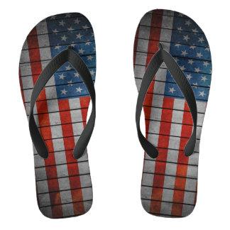 Chinelos Cerca pintada da bandeira americana