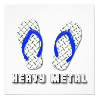 Chinelos chapeados diamante do metal pesado convites personalizado