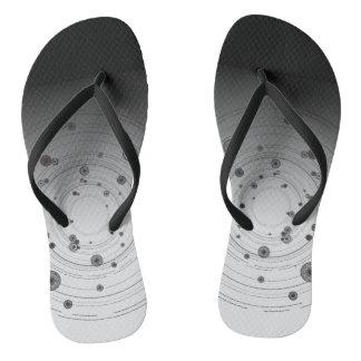 Chinelos cinzentos, chinelos da mandala