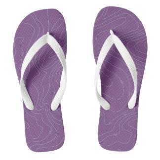 Chinelos Contorno do Topographer que traça flip-flops