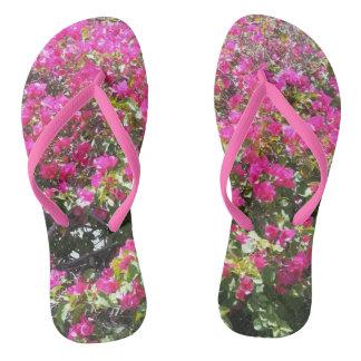 Chinelos cor-de-rosa lindos de Bush do