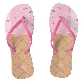 Chinelos cor-de-rosa personalizados do verão do