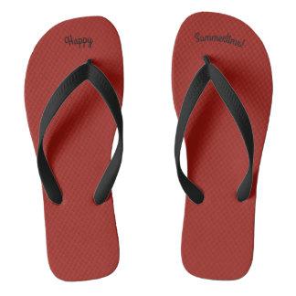 Chinelos Correia preta larga de W do vermelho contínuo