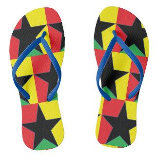 Chinelos da estrela da reggae