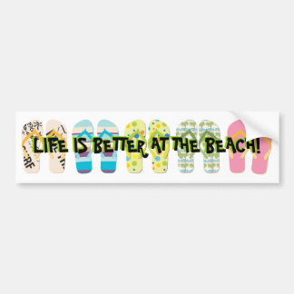 Chinelos da praia adesivo para carro