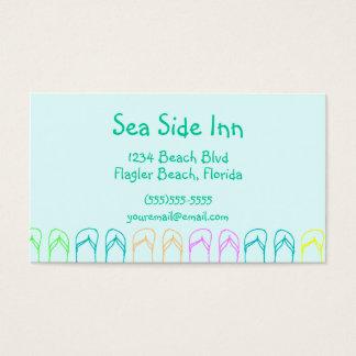 Chinelos da praia cartão de visitas