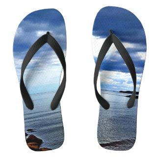Chinelos da praia de Sidmouth