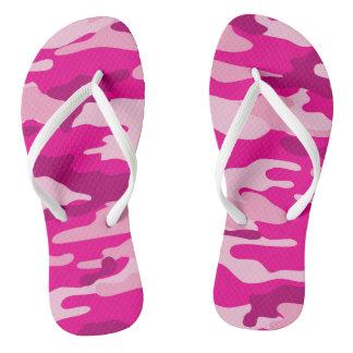 Chinelos de Camo do rosa quente, calçados da