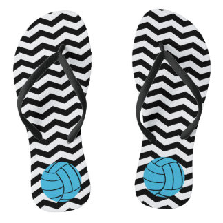 Chinelos de Chevron do voleibol de turquesa