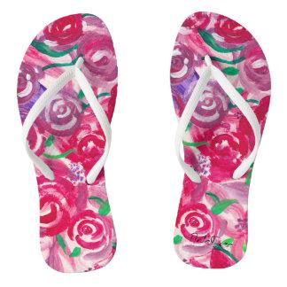 Chinelos Dedos do pé cor-de-rosa