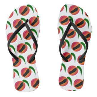 Chinelos descalços dos pêssegos de Geórgia