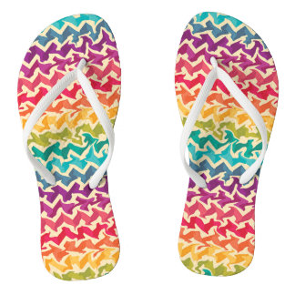 Chinelos Design abstrato colorido arco-íris da viga