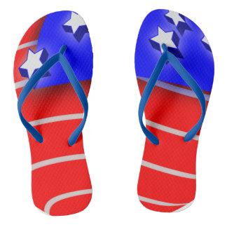 Chinelos Design da bandeira americana