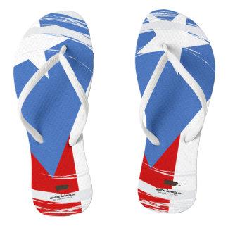Chinelos Design da bandeira de Puerto Rico