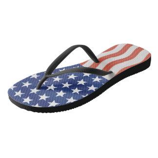 Chinelos Design estilizado da bandeira americana