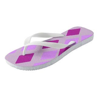Chinelos Diamantes violetas da beringela do heliotrópio
