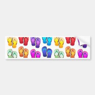 Chinelos do arco-íris adesivo para carro