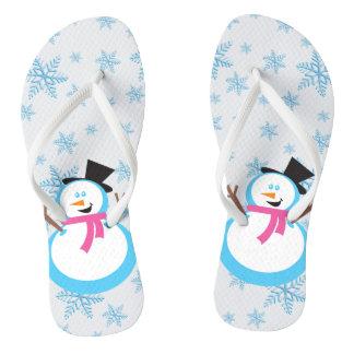 Chinelos do boneco de neve