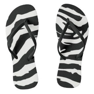 Chinelos do impressão da zebra para mulheres
