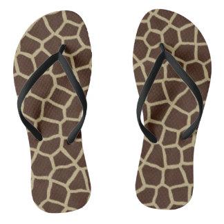 Chinelos do impressão do girafa