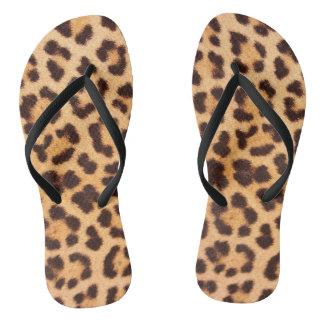 Chinelos do impressão do leopardo