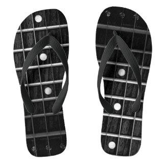 Chinelos do Monochrome de Fretboard da guitarra