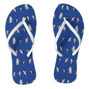 Chinelos do partido do pinguim (azuis)