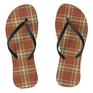 Chinelos do Tartan de Brown