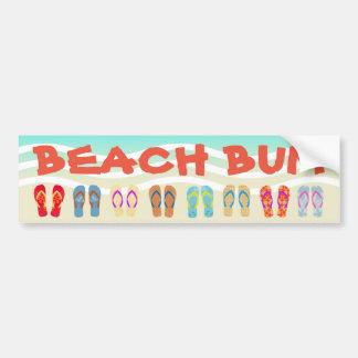 Chinelos do verão do vagabundo da praia adesivo para carro
