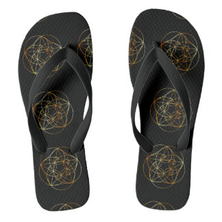 Chinelos Espiral de Fibonacci a geometria sagrado